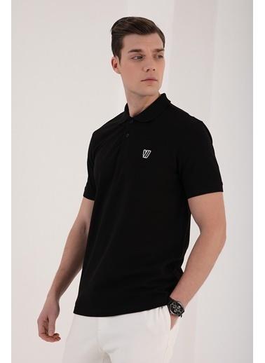 Tommy Life Klasik Polo Yaka Erkek Tshirt Siyah
